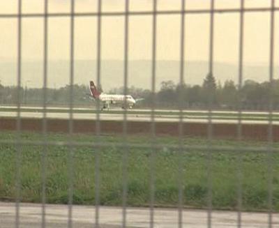 Letadlo na letišti v Mošnově