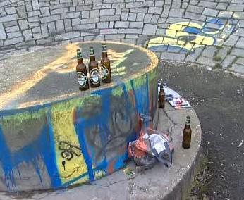 Nepořádek v ulicích Krnova