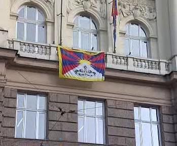 Vlajka pro Tibet ve Zlíně