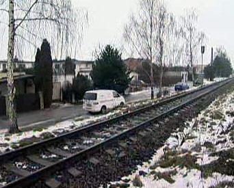 Železniční trať v Ostravě-Zábřehu