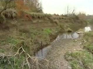 Poničené povodí řeky Moravy