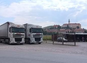 Kamiony v Mikulově