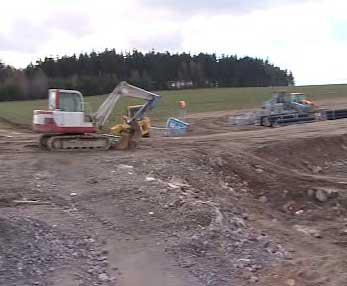 Výstavba silnice z Jihlavy do Třebíče