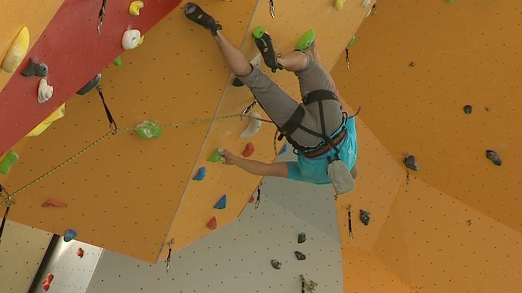 Nově otevřené lezecké centrum ve Zlíně