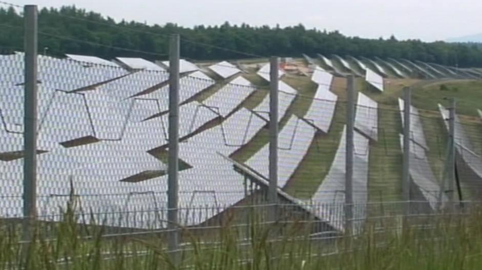 Solární panely u Vranovské Vsi