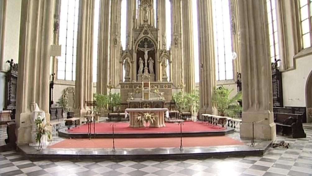 Interiér kostela sv. Jakuba