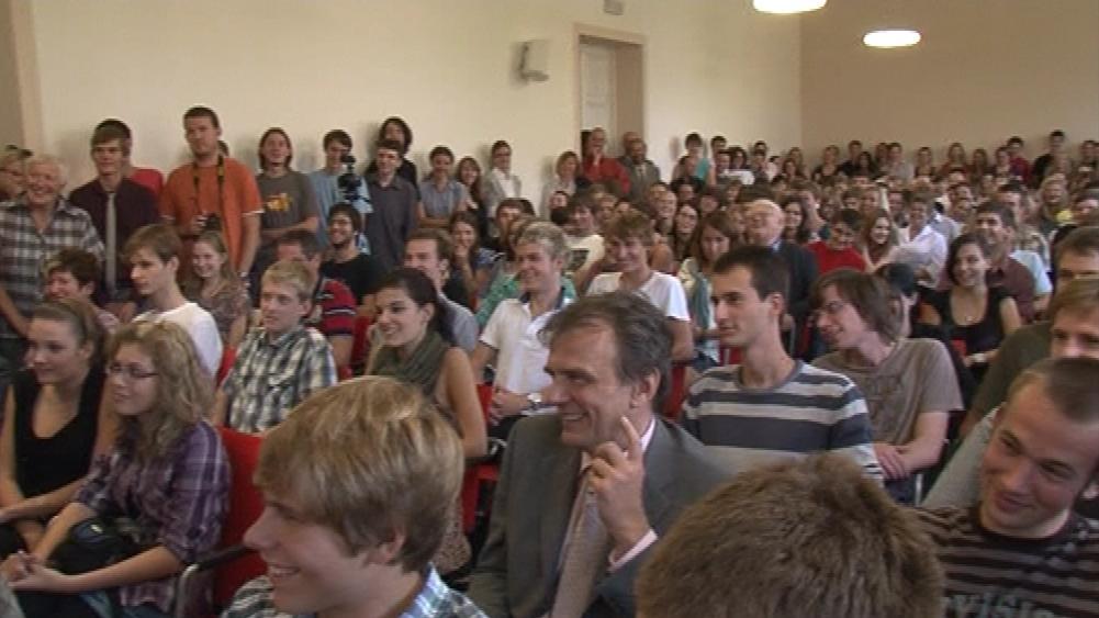 Studenti a pedagogové brněnského gymnázia debatovali s Václavem Klausem