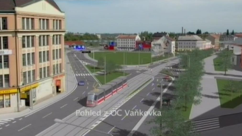 Pohled na Dornych a Plotní po změně dopravy