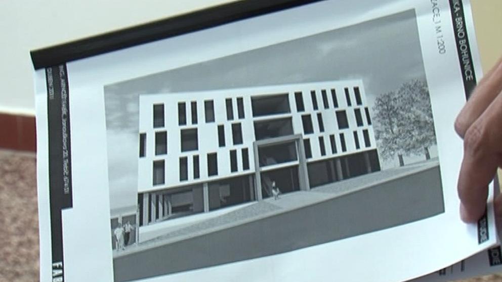 Návrh podoby zubní poliklinika, který měl vyrůst v Brně-Bohunicích