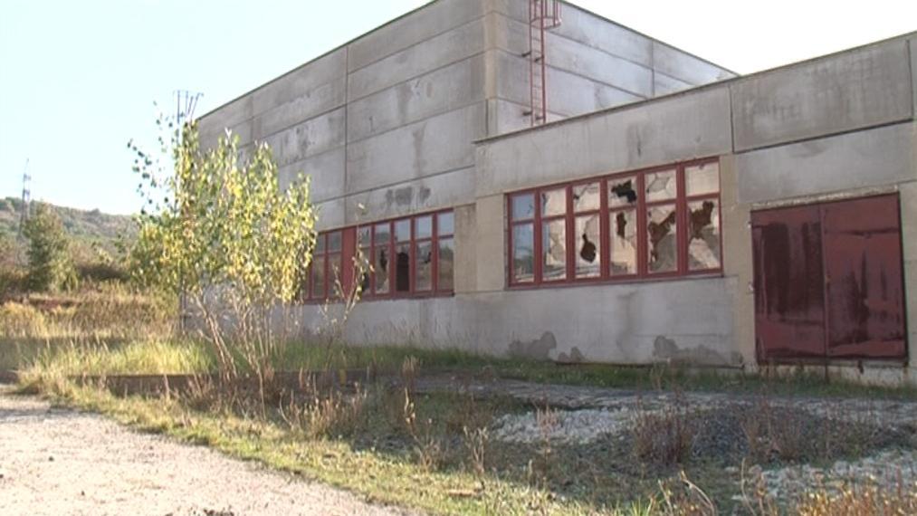 Opuštěný areál nedokončené továrny Ergon