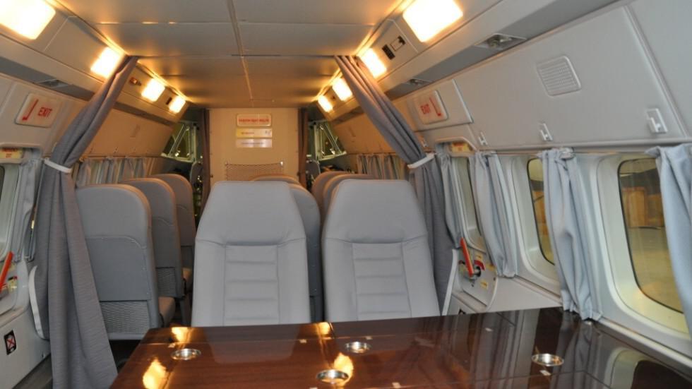 Interiér letounu L-410