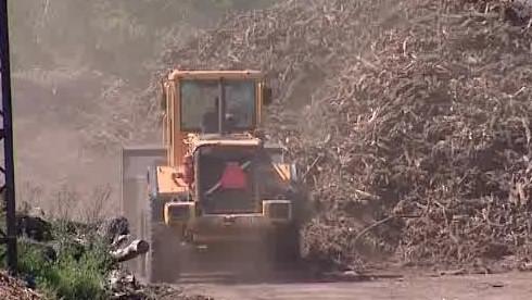 Výrobna dřevní štěpky v Hodoníně