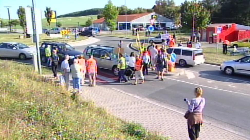Blokáda dopravy v Kuřimi