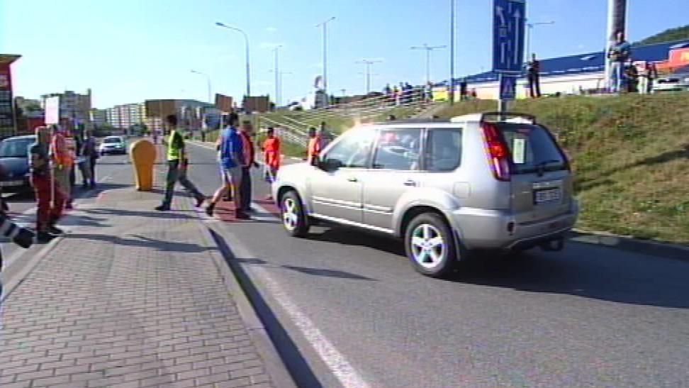 Blokáda dnes čekala na řidiče v Kuřimi