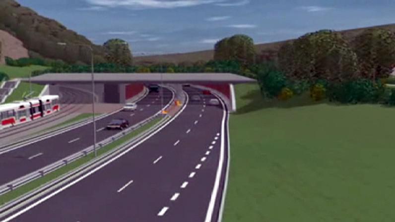 Vizualizace tunelu v Brně