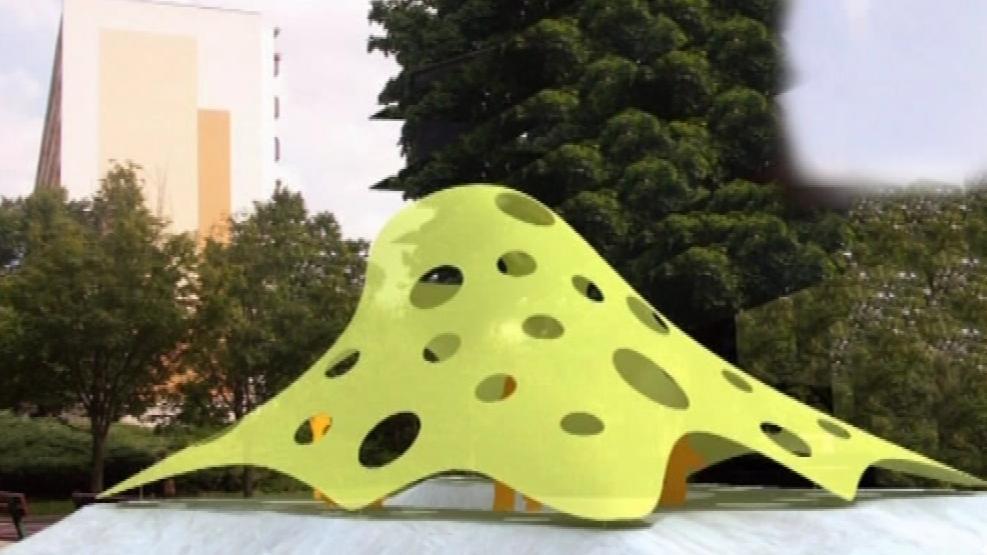Vizualizace zastávky ve tvaru chobotnice v Brně