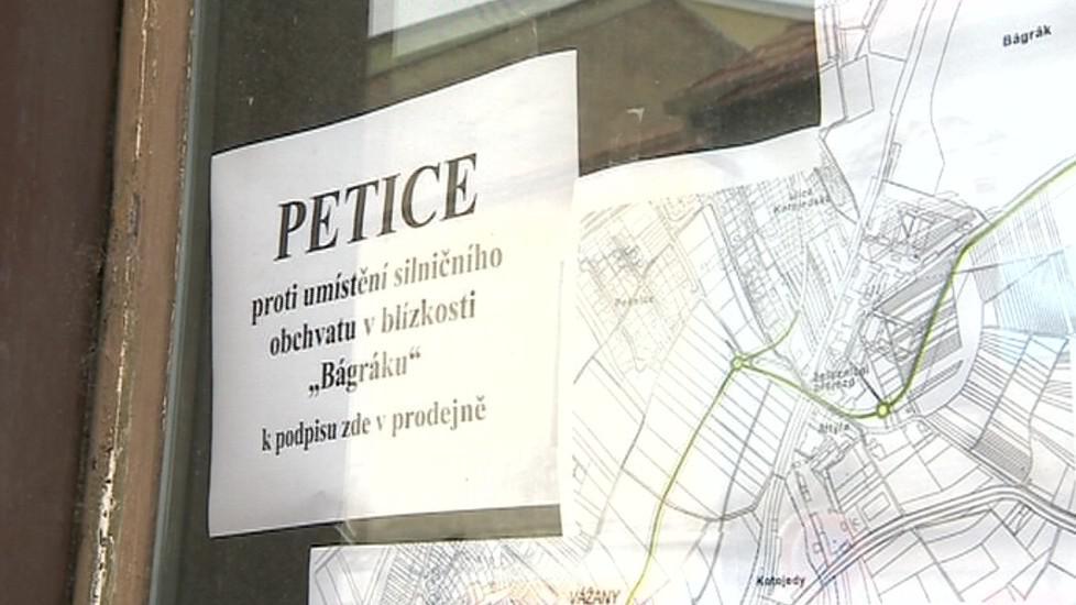 Proti obchvatu sepisovali lidé petici