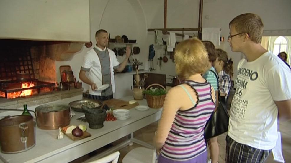 Návštěvníky v hradní kuchyni čekalo překvapení
