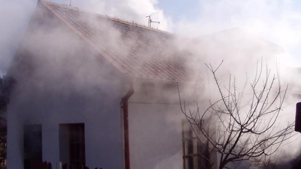 Požár rodinného domu v Lelekovicích