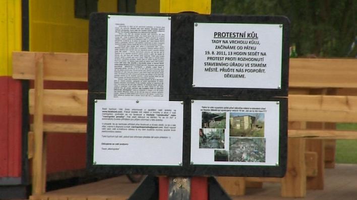 Protest proti zrušení Rastabudky