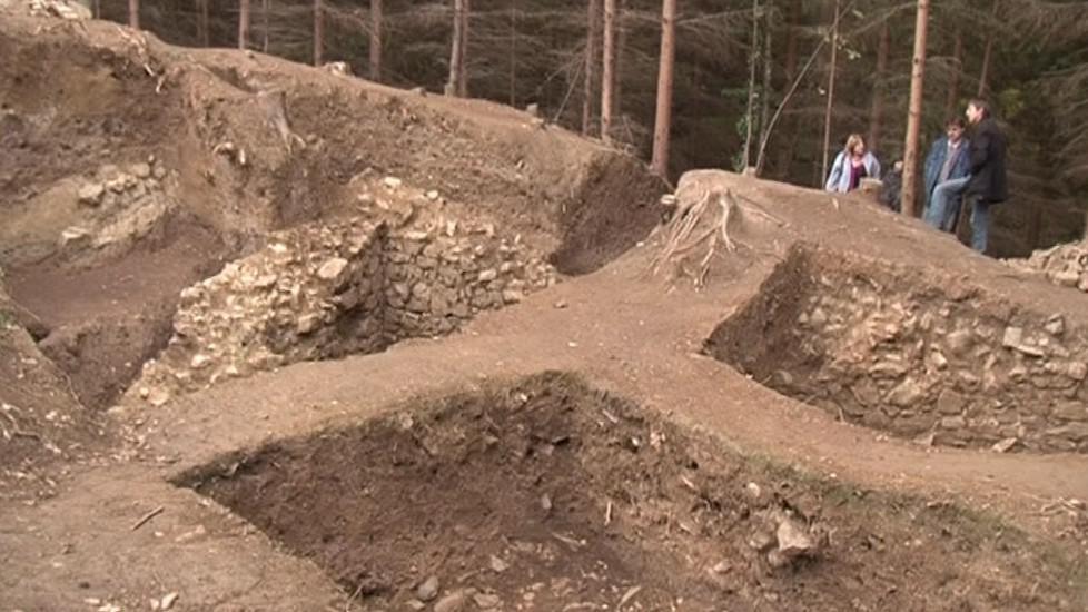 Odhalené trosky hradu Rumberku