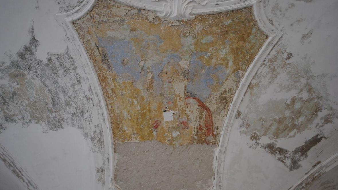 Odhalené fresky na zámku ve Valašském Meziříčí