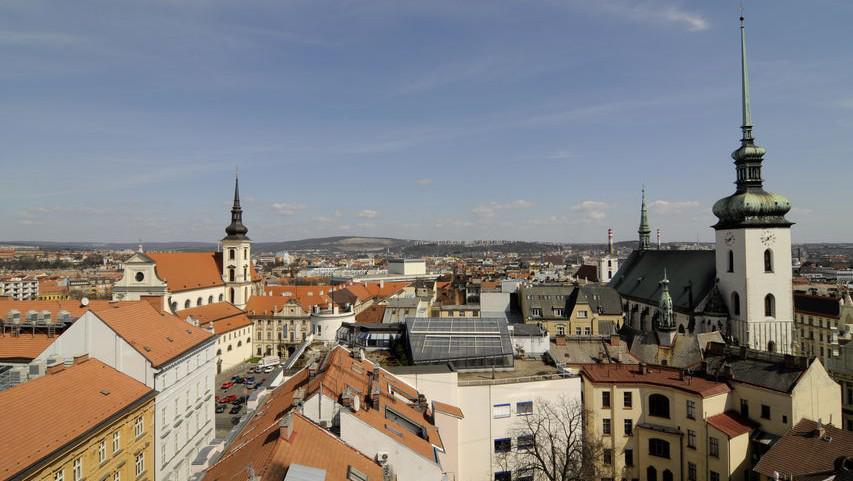 Pohled z hotelu Avion na Brno