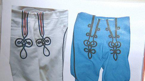 Kalhoty k březovickému pánskému kroji