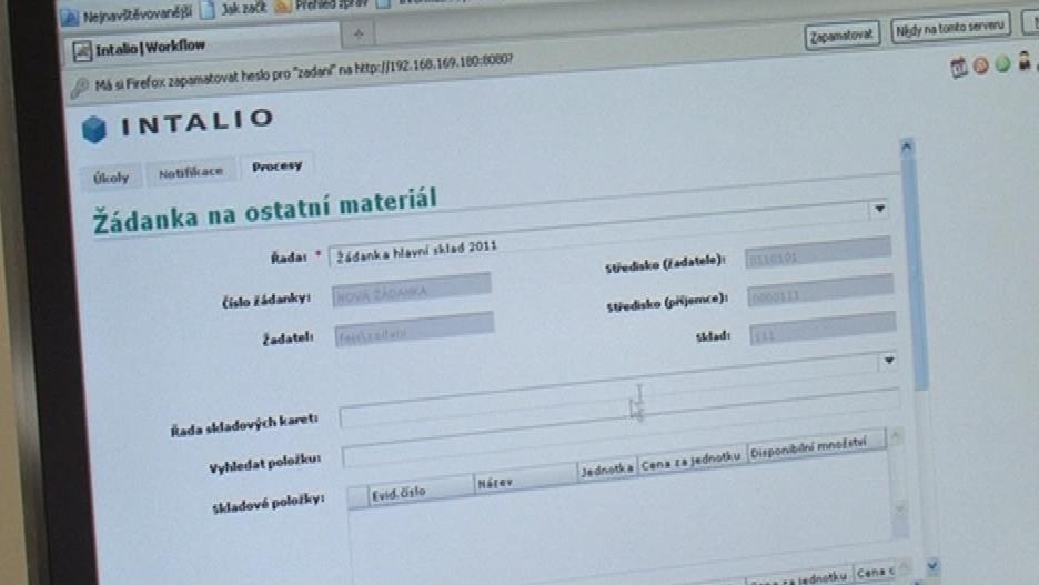Elektronický systém, který má hlídat objednávání léků a materiálu