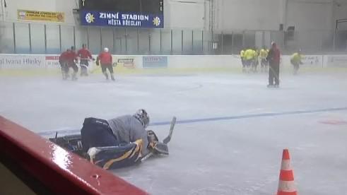 Trénink hokejistů