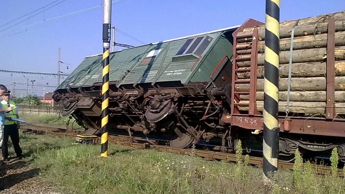 Vykolejený vagon
