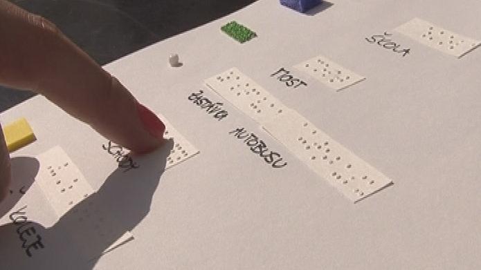 Zájemci si mohou vyzkoušet i Braillovo písmo