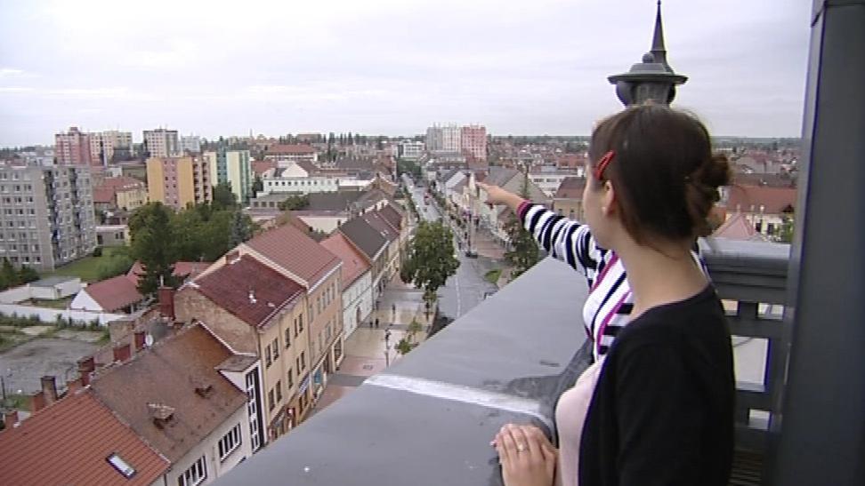 Výhled z radniční věže v Hodoníně