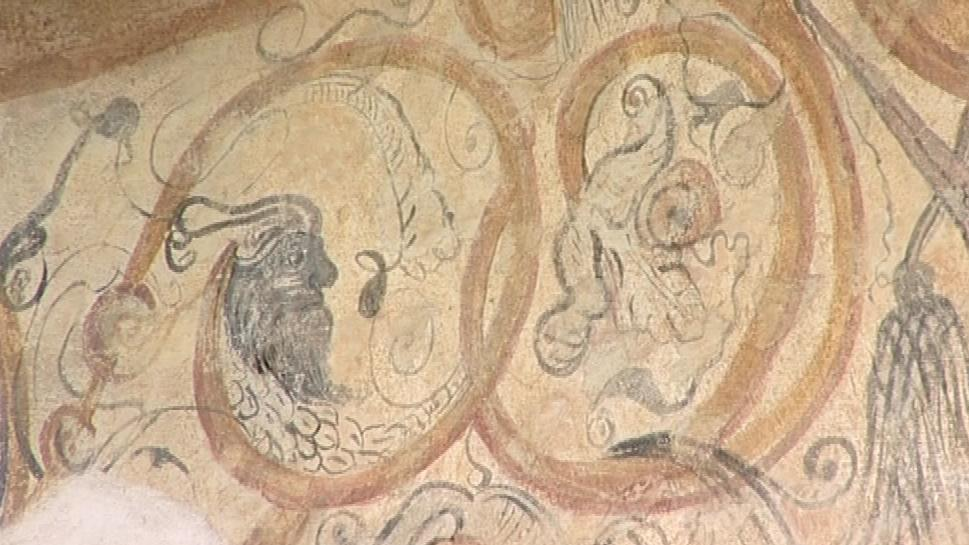 Renesanční malby na domu v Nedvědici