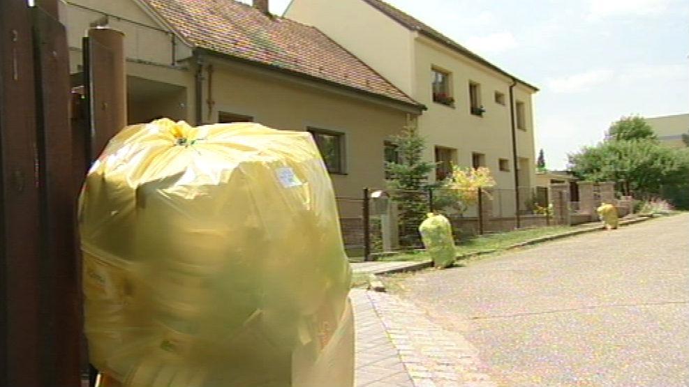Třídění odpadu v Tišnově