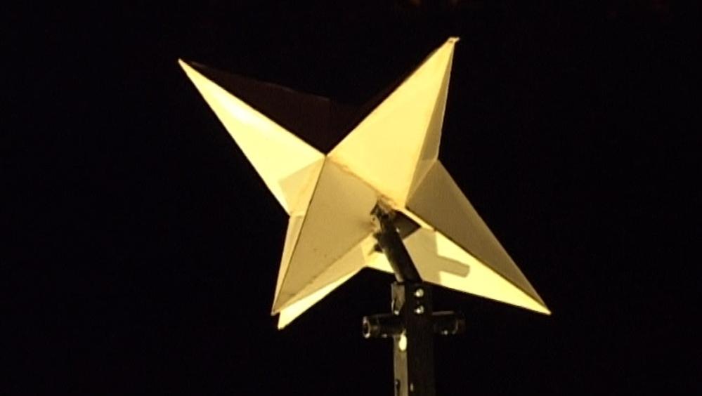 Hvězda, letošní instalace od Matěje Smetany