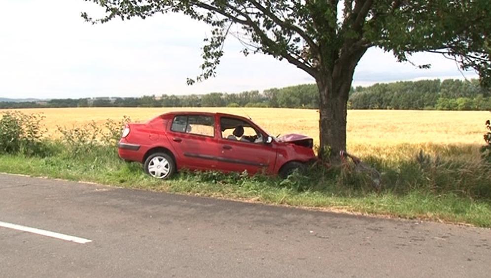 Auto u Prace narazilo do stromu