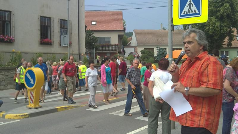 Obyvatelé Bosonoh blokují dopravu v obci