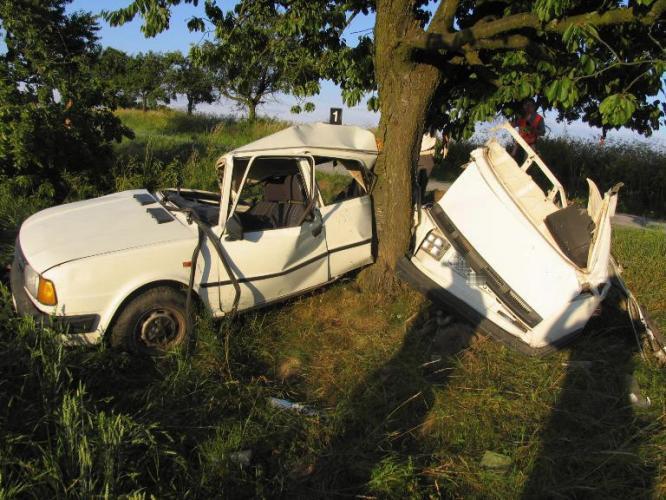 Auto se o strom zcela zničilo