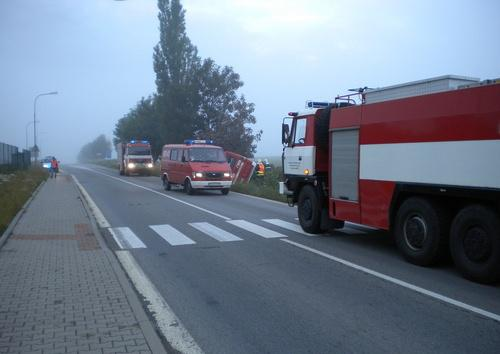 U Sebranic na Blanensku havarovali polští hasiči