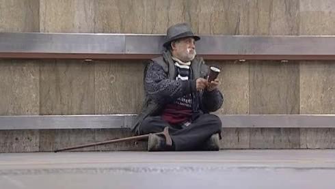 Jeden z brněnských bezdomovců