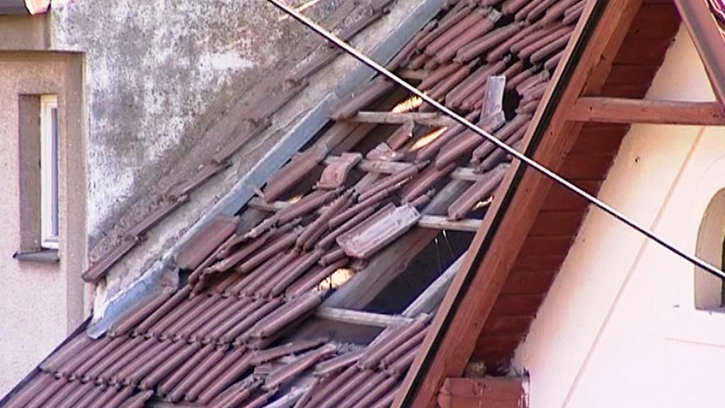 Poničená střecha