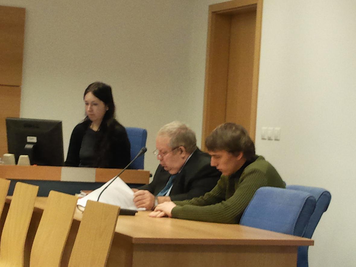 Obžalovaný Petr Čápek před soudem