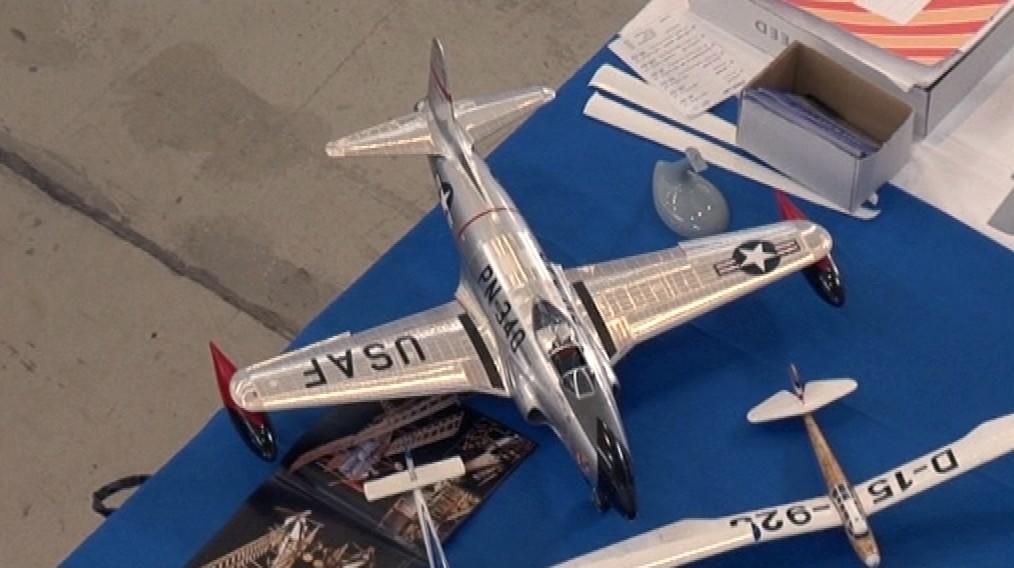 Modely letadel na brněnském výstavišti