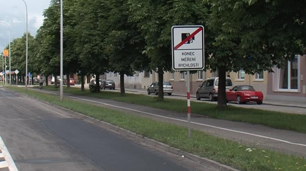 Měření rychlosti v Prostějově