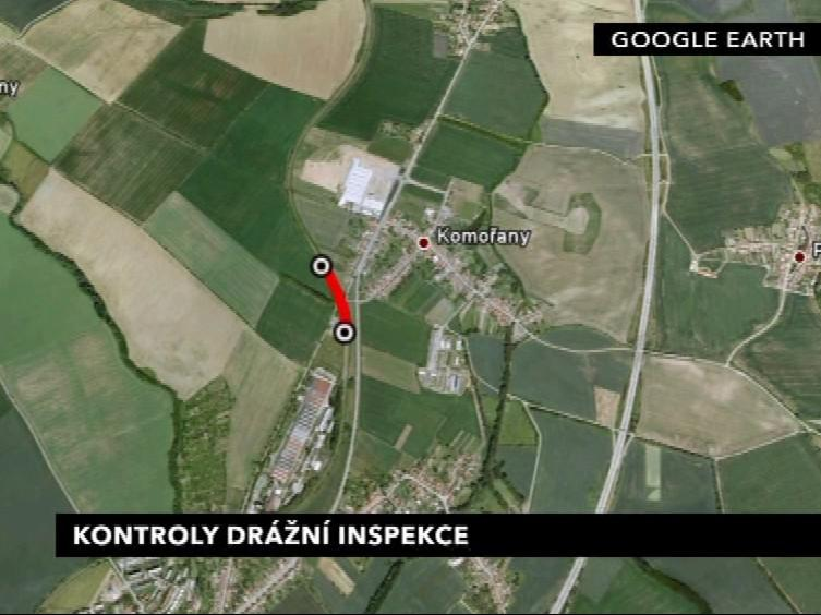 Problematický úsek na trase Vyškov-Ivanovice na Hané