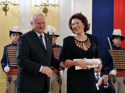 Ivan Gašparovič a Eva Blahová