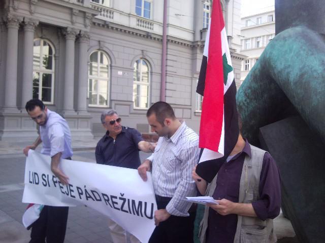 Arabská demonstrace v Brně