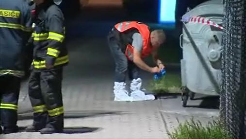 Policejní pyrotechnik zkoumá příčiny výbuchu