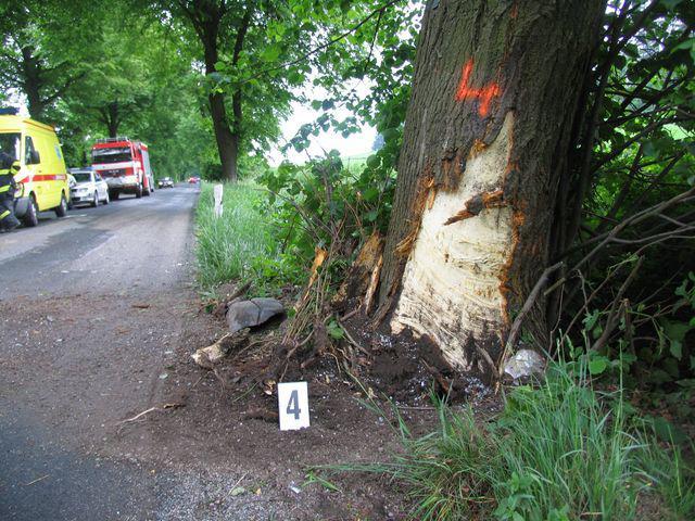 Náraz do stromu s opilým řidičem za volantem nepřežila čtyřletá dívka
